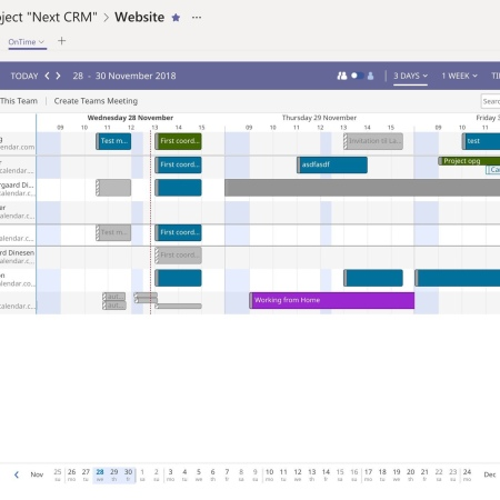 OnTime Meeting Scheduling for Microsoft Teams